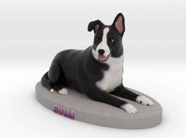 Custom Dog Figurine - Sulli in Full Color Sandstone