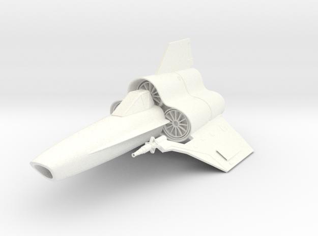 Viper MK-IV Fighter in White Processed Versatile Plastic