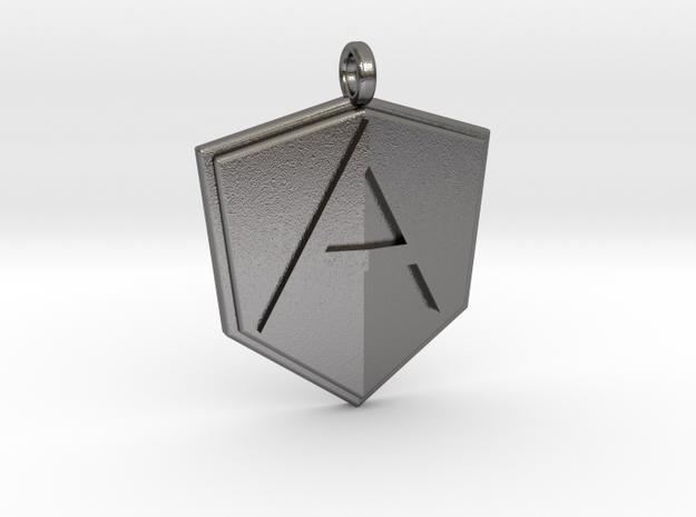 AngularJS Pendant in Polished Nickel Steel