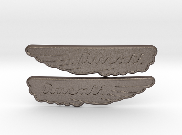 Ducati Scrambler Tank Badge in Stainless Steel