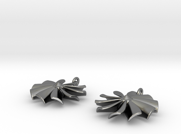 """turbine"" earrings 3d printed"