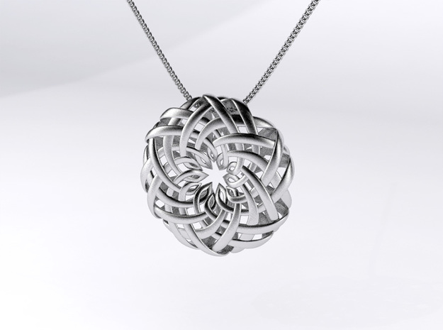 the Lotus Pendant 3d printed