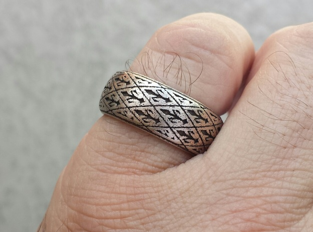 ROYAL 1  in Polished Bronzed Silver Steel: 10.5 / 62.75