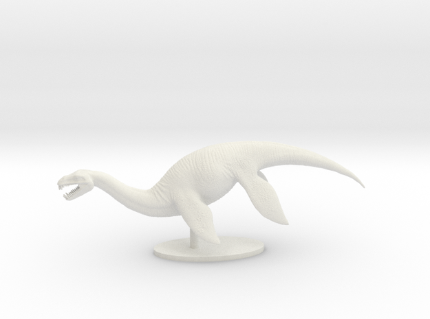 Plesiosaur in White Strong & Flexible