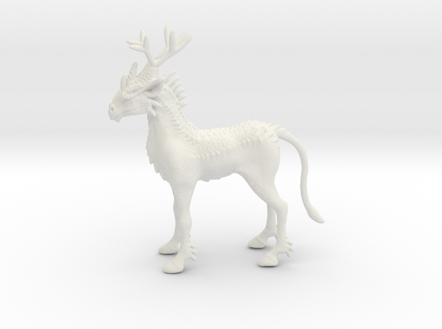 Kirin in White Natural Versatile Plastic