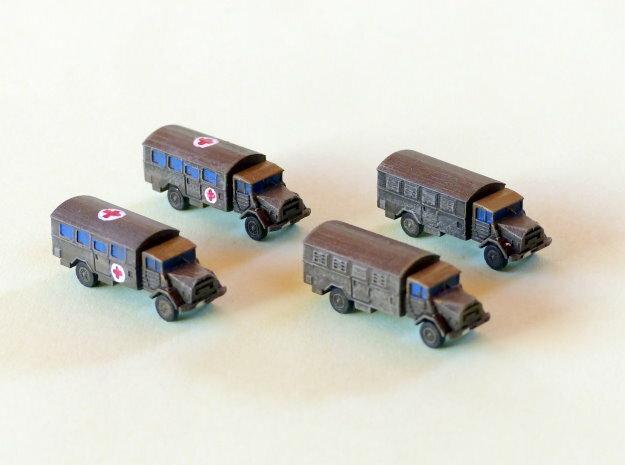 German MAN 630 5to Truck Van Body 1/285 6mm in Smooth Fine Detail Plastic