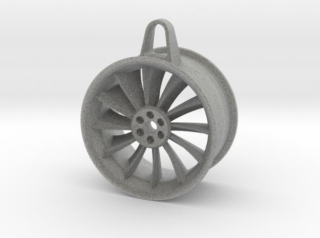 Aluminium Wheel - Keychain in Metallic Plastic