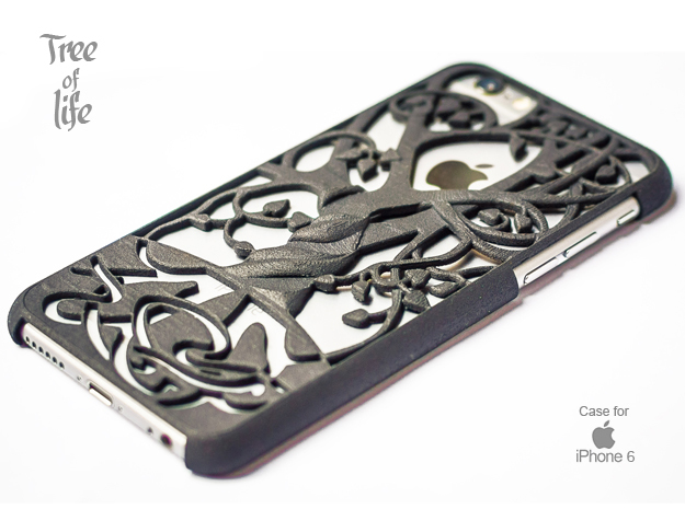 "Iphone 6 cover ""Tree of life"" in Black Natural Versatile Plastic"