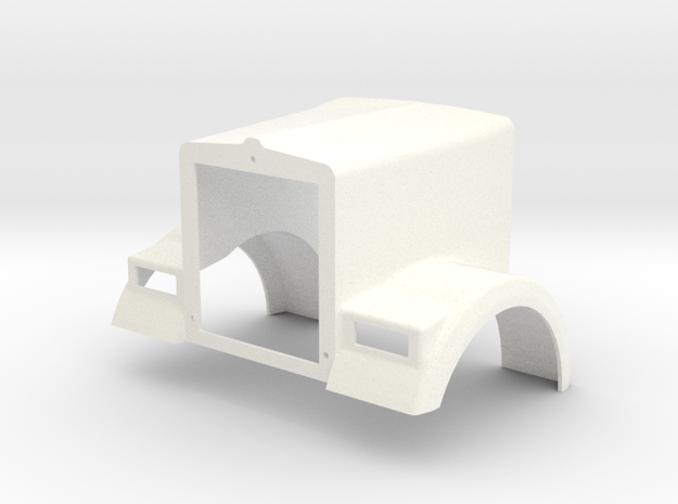 KW W900B Style Hood in White Processed Versatile Plastic
