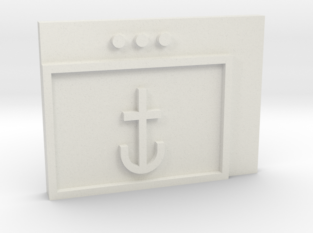 Navy in White Natural Versatile Plastic