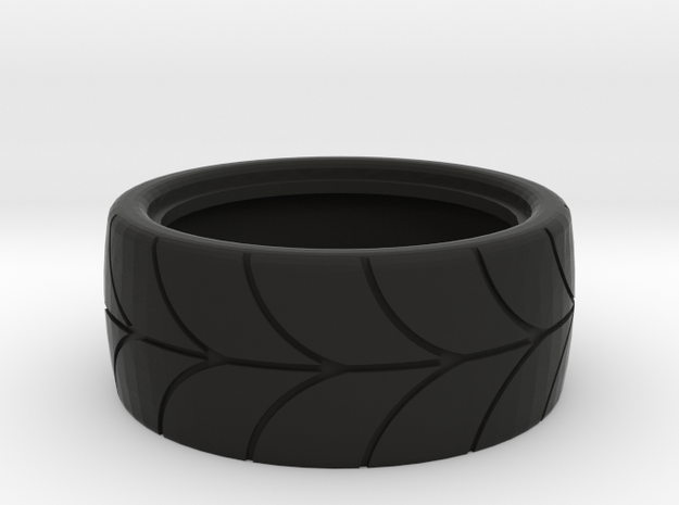 1/10 scale drift tire in Black Natural Versatile Plastic