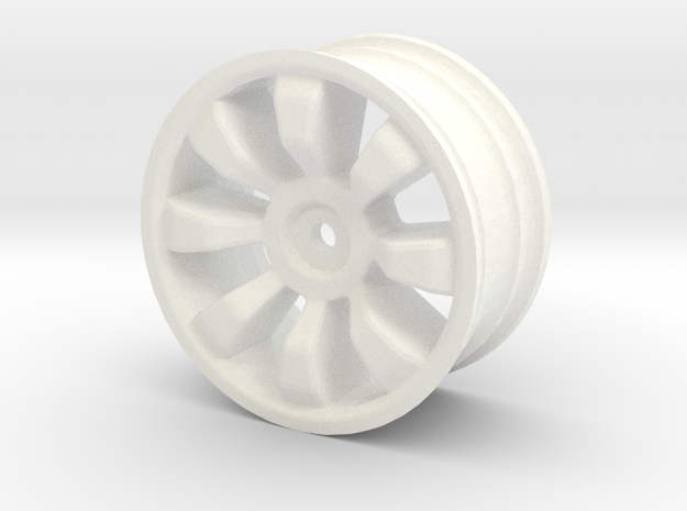 1/10 scale rc car wheel in White Processed Versatile Plastic