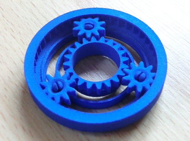 Planetary Gearing in Blue Processed Versatile Plastic