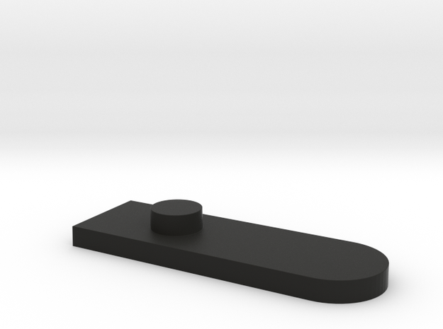 Base Plate Retainer in Black Natural Versatile Plastic