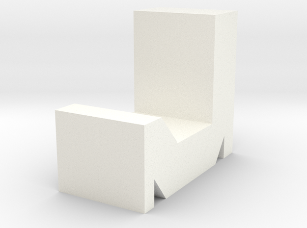 Phone Holder in White Strong & Flexible Polished