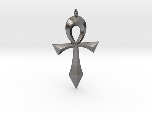 Toschlog Special Swept Ankh in Polished Nickel Steel