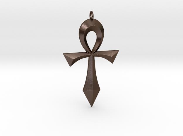 Toschlog Special Swept Ankh in Polished Bronze Steel