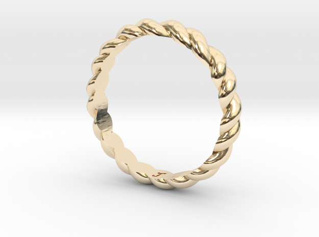 Womans Rope Ring Size 6 in 14K Yellow Gold