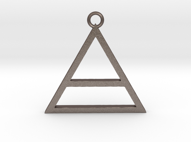 30 Seconds To Mars Pendant in Polished Bronzed Silver Steel