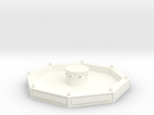 Stadtbrunnen gekachelt (1/220) in White Processed Versatile Plastic