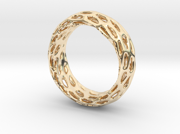 Trous Ring S9 in 14K Gold