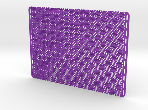 Mesostructure Fabric Sample (Square) in Purple Strong & Flexible Polished