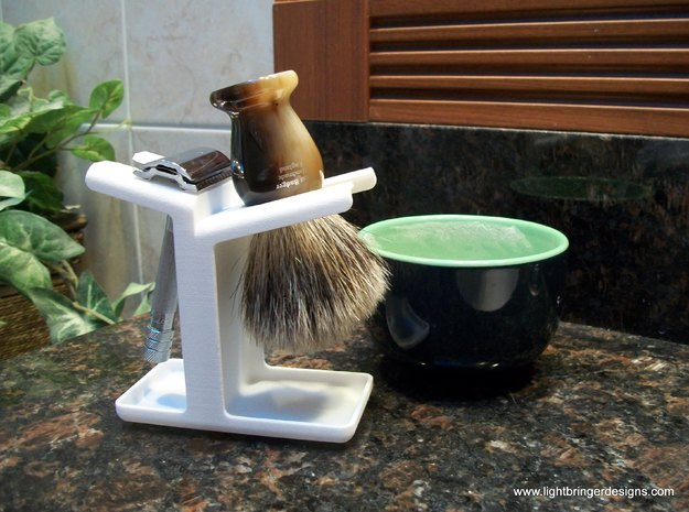 Combo Razor Stand in White Strong & Flexible