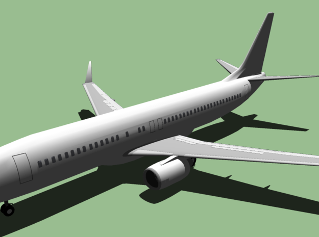 Boeing 737-800 in 14K Yellow Gold