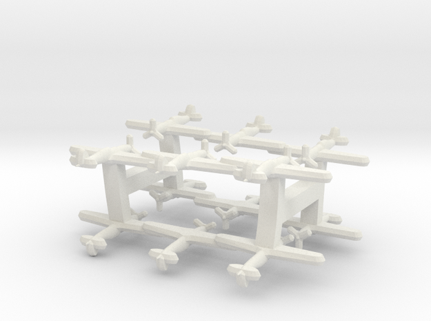 Macchi C.205 Veltro (Triplet) 1:900 x4 in White Natural Versatile Plastic