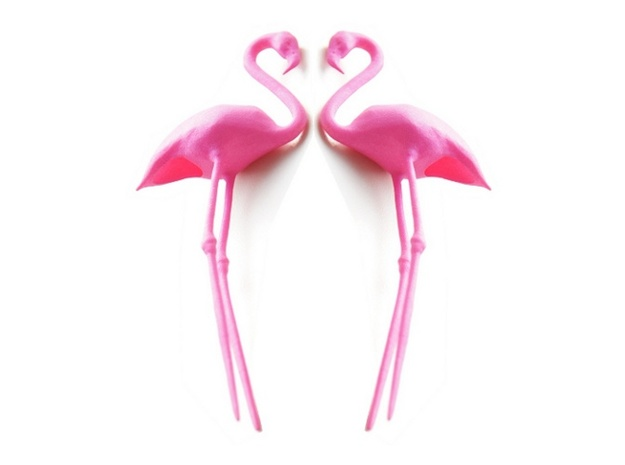 Flamingo Cake Topper 2X