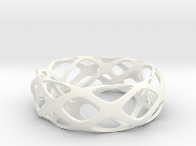 Frohr Design Bracelet 2-10-15-1 in White Strong & Flexible Polished