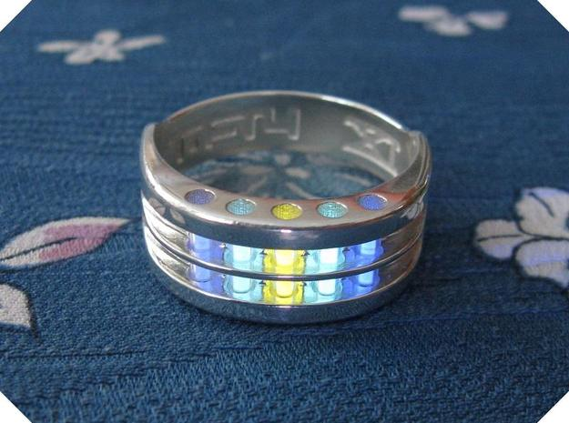 US9 Ring XI: Tritium in Polished Silver