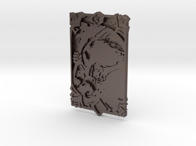 Darksiders Tarot Card - V - Death in Polished Bronzed Silver Steel