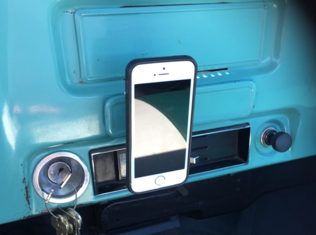 Ash Tray Clip Phone Mount for 67-72 Chevy Truck in White Strong & Flexible