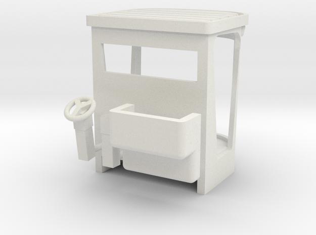 1/64 Cab in White Natural Versatile Plastic