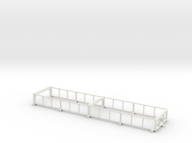 1/64 38' Silage Trailer Extensions in White Natural Versatile Plastic