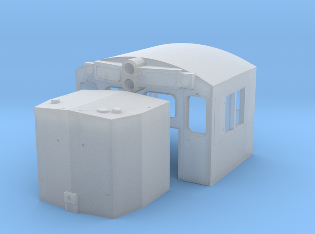 N Scale C39 Cab And Nose in Smooth Fine Detail Plastic