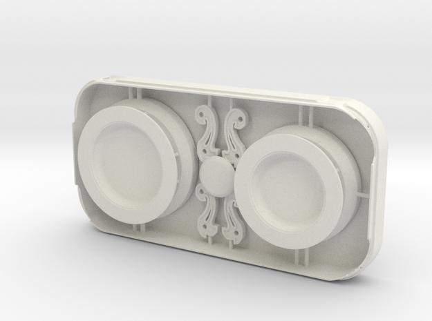 MPDA Lens bumper, connectors, iris bases - Screen  in White Strong & Flexible
