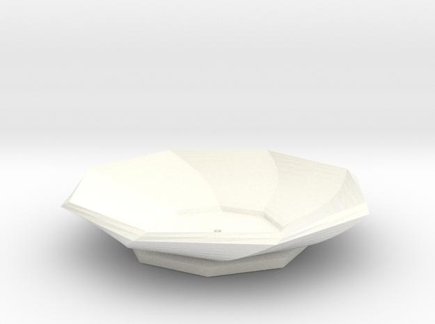 Sake Plate 01 in White Processed Versatile Plastic