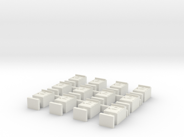 Square-print Ver in White Strong & Flexible