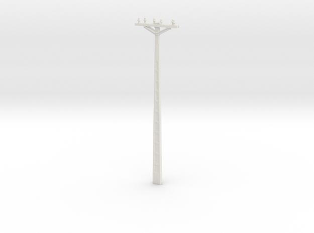 Concrete Powerline 01. Scale 1:24 in White Natural Versatile Plastic