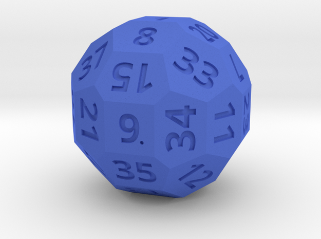 3cm Numbered D38 in Blue Strong & Flexible Polished
