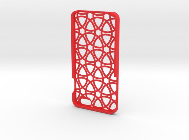 Iphone 6 Plus Circle case in Red Processed Versatile Plastic
