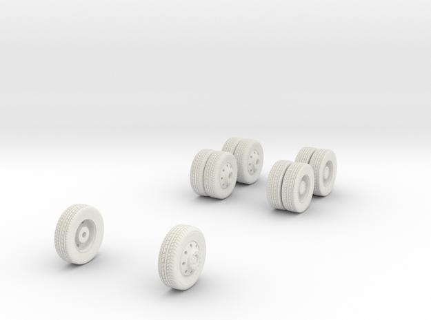 1/64 Wheels for Mack MR HAZMAT in White Strong & Flexible