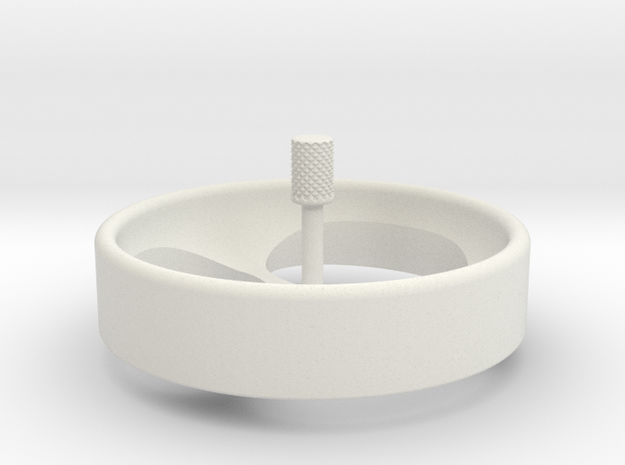 Spinning Top Revised in White Natural Versatile Plastic