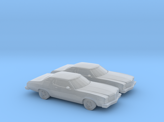 1/120 2X 1974 Ford Torino in Smooth Fine Detail Plastic