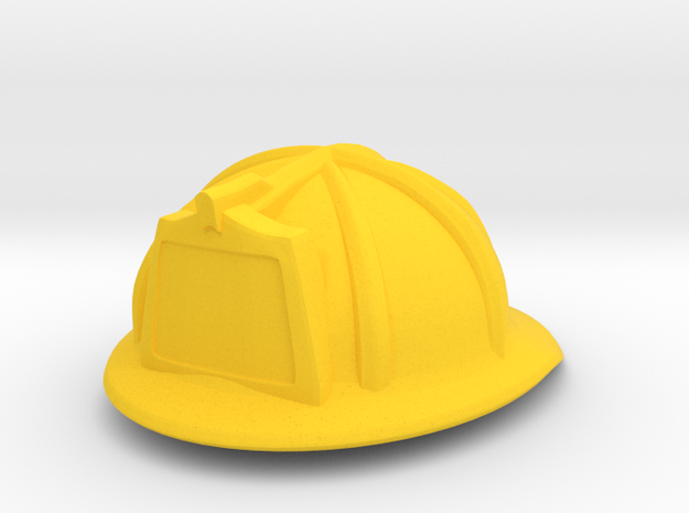 American Fire Helmet (tbn) in Yellow Processed Versatile Plastic