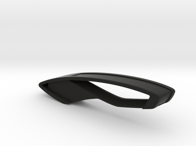 Trapezio Keychain in Black Natural Versatile Plastic