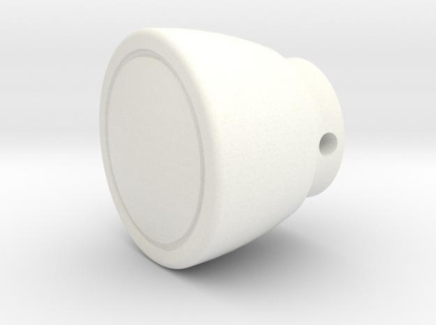 Fj Vent Knob in White Processed Versatile Plastic