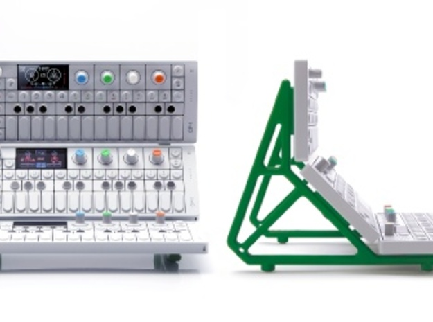 OP-1 Triple Stand (1/2) in White Strong & Flexible